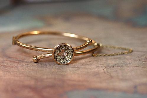Victorian Bangle Bracelet Gold Filled Bangle Bracelet Childs Size