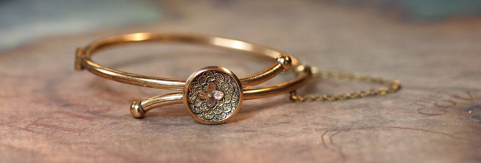 Victorian Bangle Bracelet Gold Filled Bangle Bracelet Childs Size