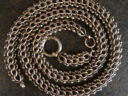 14k Gold Victorian Mesh Chain Victorian Necklace 9 mm Wide - DK219