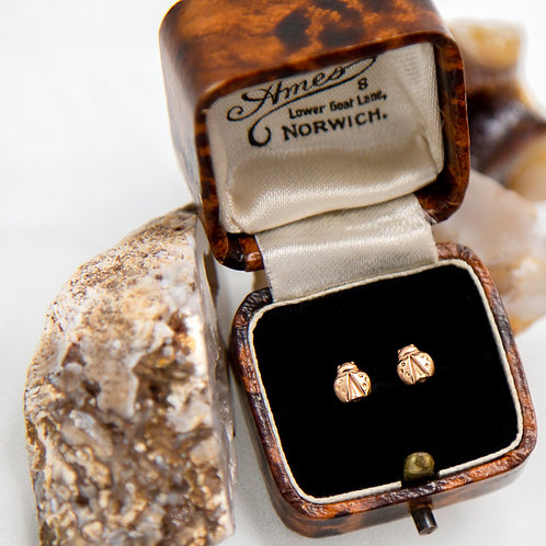 Ladybug Studs available in Sterling Silver, Gold & Platinum