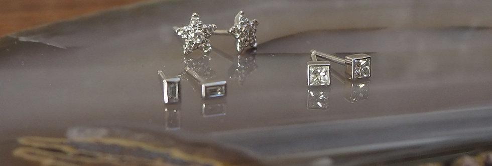Diamond Studs Diamond Star Stud Earrings