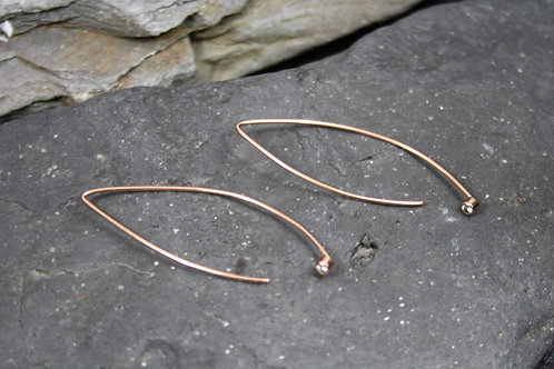 Two in One 2 in 1 / 14k Rose Gold Earrings for your Diamonds or Mine