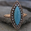 Thumbnail: Victorian Turquoise and Pearl Navette Ring in 14k Yellow Gold