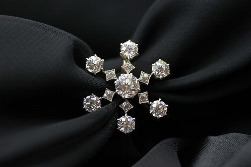 Incredible Victorian Diamond Ring / Snowflake Diamond Ring 3.06 ct