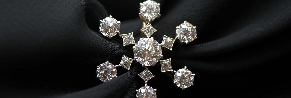 Incredible Victorian Diamond Ring / Snowflake Diamond Ring 3.06 ct