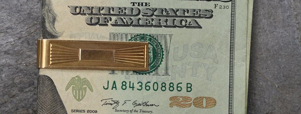 Art Deco Money Clip Moneyclip in 14k Yellow Gold