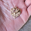 Thumbnail: Mid Century 14K Gold Ruby Puffy Heart Pendant