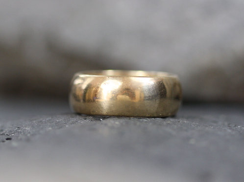 Antique 18k Gold Band 6.9 mm Wide Dated 1918