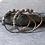 Thumbnail: Georgian Half Hoops Citrine Earrings in Silver and 14k Gold