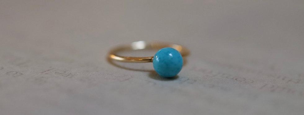 Mid Century 14k Gold Turquoise Ring