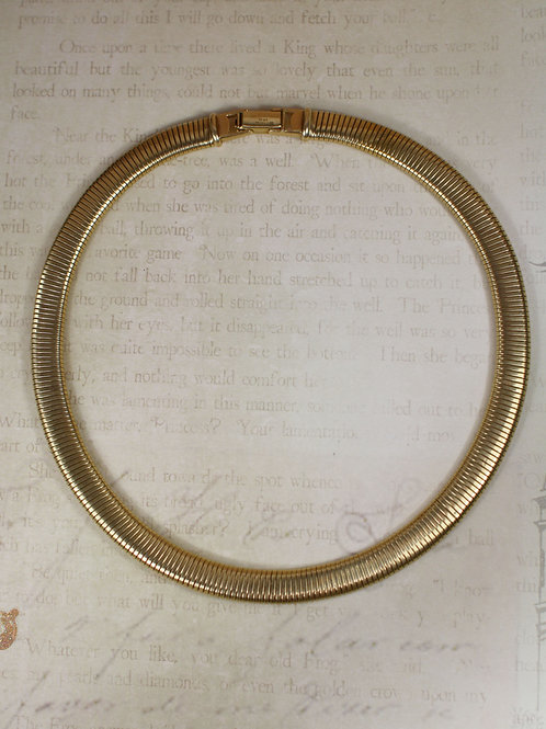 Mid Century Tiffany & Co. Stretch Gold Collar / 14k Yellow Gold / 16 Inch