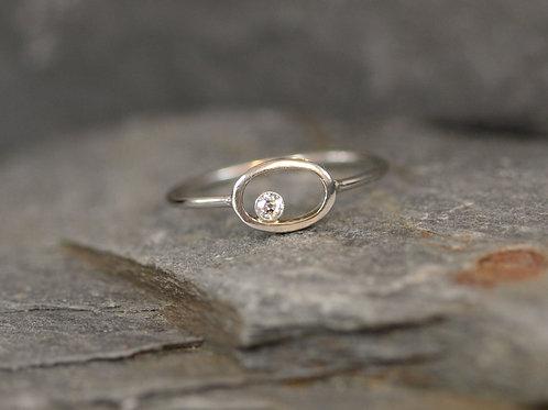 Art & Crafts Diamond Ring in Platinum / Platinum Diamond Ring