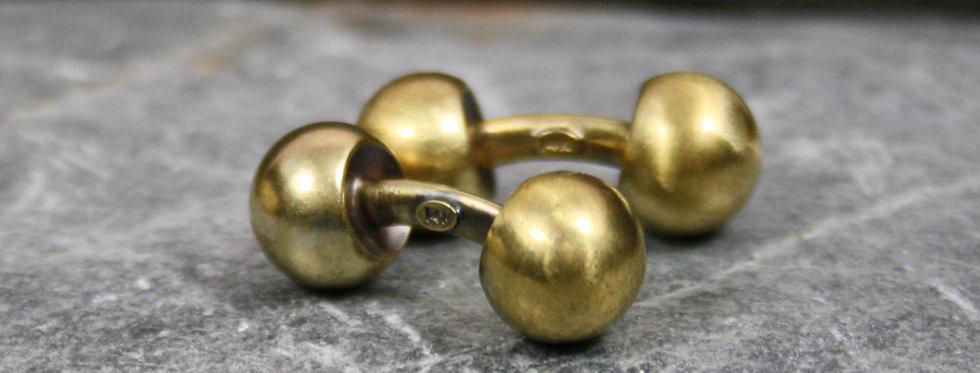 Antique Victorian Cufflinks in 14k Yellow Gold