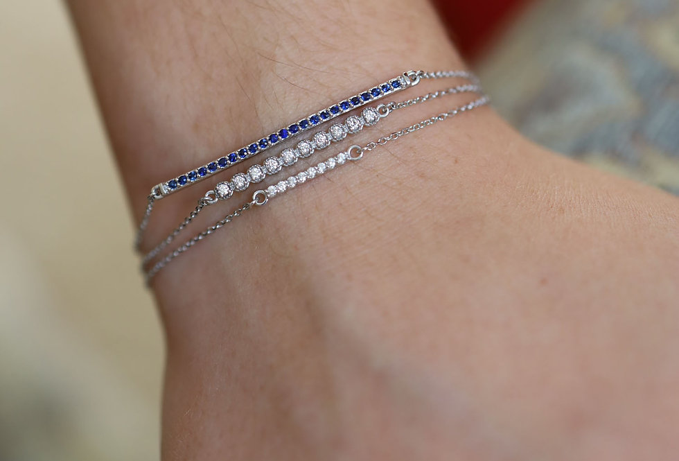 Gold Diamond Bar Bracelet Diamond Bracelet
