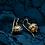 Thumbnail: Victorian Etruscan Revival 14k Yellow Gold Granulated Bead Drop Earrings