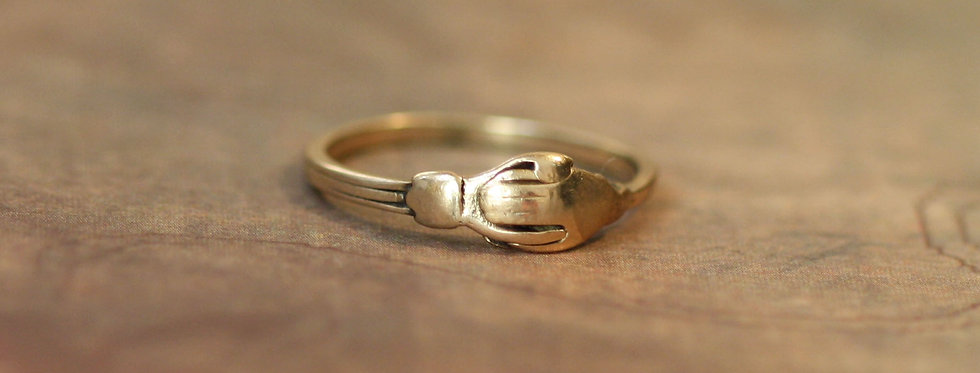 Victorian 14k Gold Fede Gimmel Ring