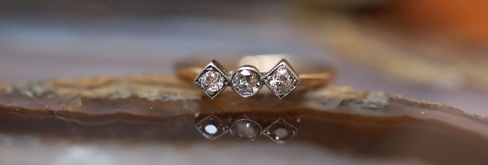 Victorian Three Stone Diamond Ring