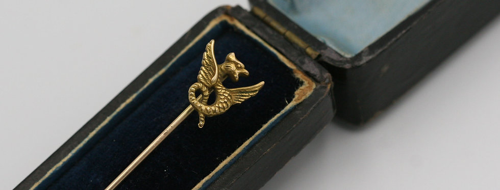 Victorian Griffin Gryphon 14k Yellow Gold Bespoke
