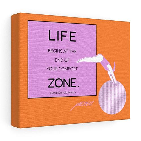 Life Begins... Orange Stretched canvas