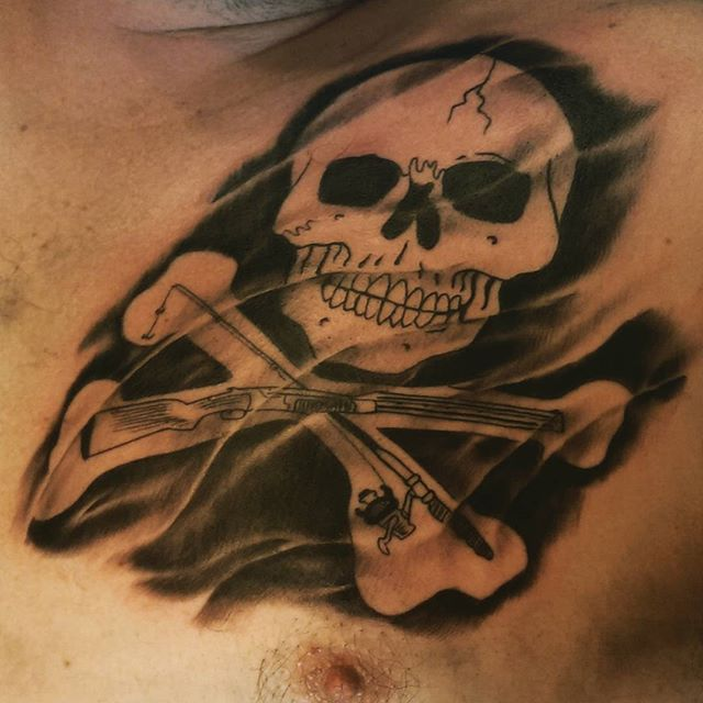 First #redcrowstudio #sandiegotattooer #sandiegotattoo #sandiegoart #ecb30 #northparksd #hunter #fis