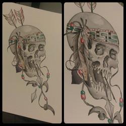 Instagram - #nativeamerican #skulls #watercolor #tattoo #flash #itsalreadytaken