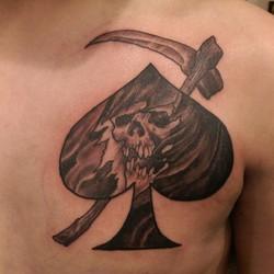 Instagram - Death dealer #redcrowstudio #usmc #marinetattoo #grimreaper