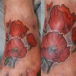 Here's some shiny poppies I did. Hopefully I'll get some better pics when she's healed