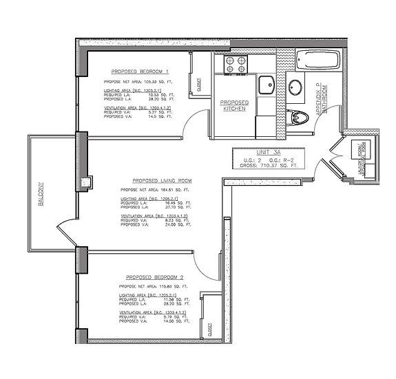 1548 72nd St #3A 772ft² 692/ft² 2 bed 1 bath