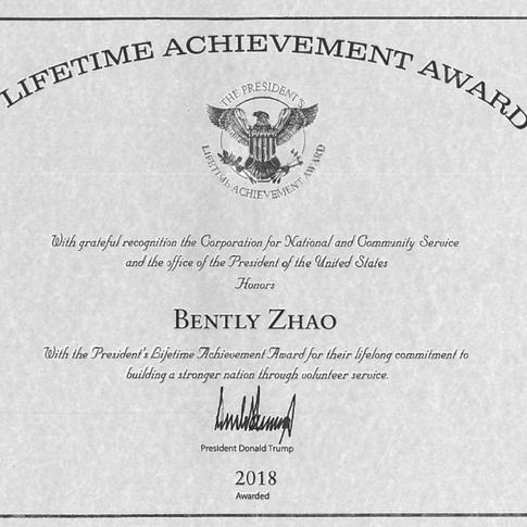 President Award: Lifetime Achievement Award