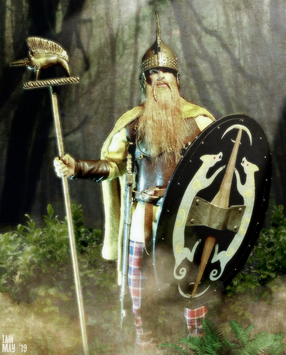 This is the Kaustic Plastik Celtic Chieftain, but I have replaced the head and given him a real leather belt.