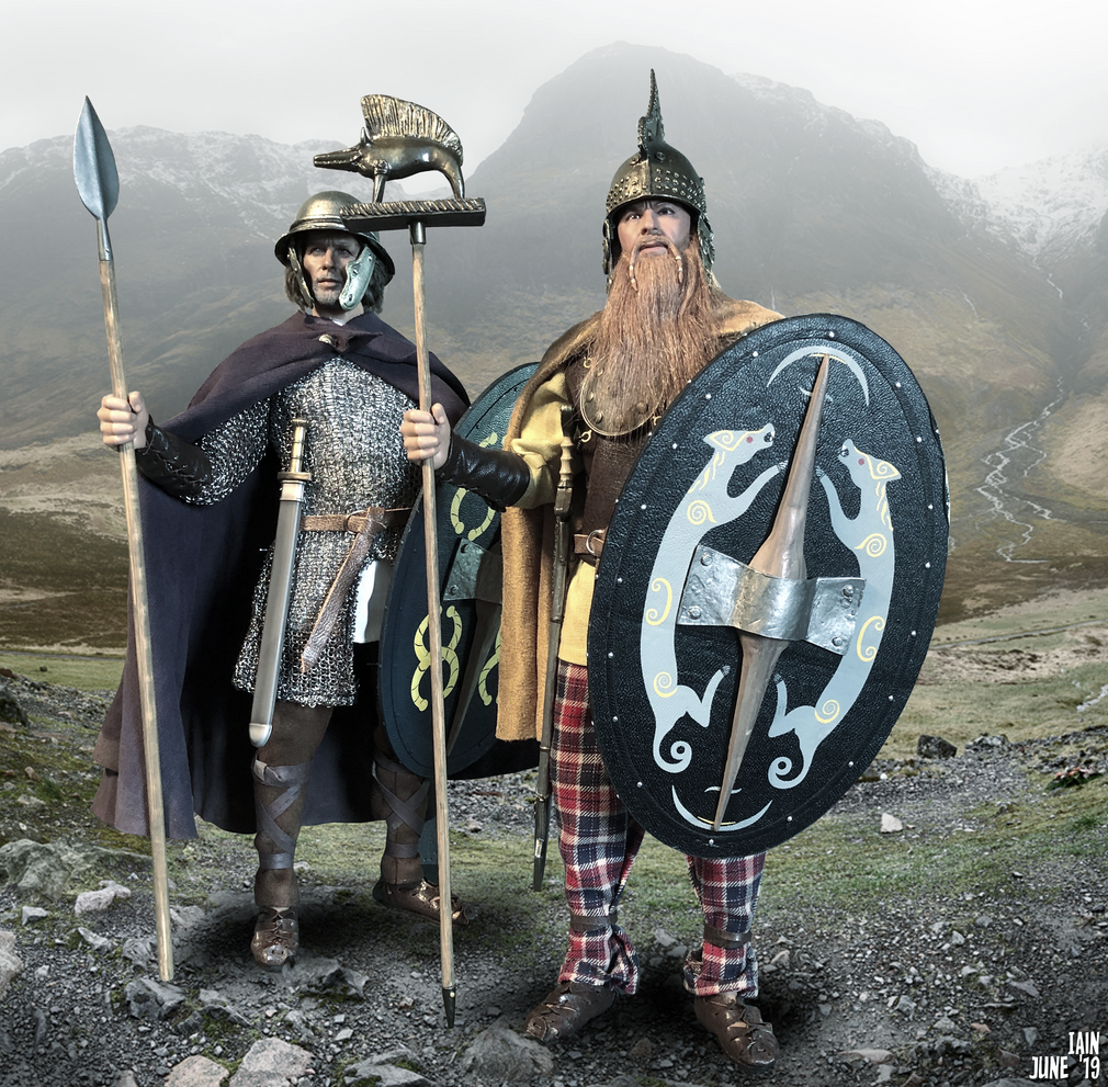 A young Scots Celtic nobleman stands beside his chieftain as they wait for the Romans to march into the glen...