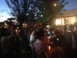 vigil for Pope's visit