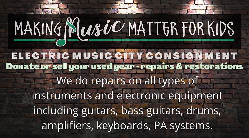 We do repairs on all types of instruments and electronic equipment including guitars, bass guitars, drums, amplifiers, keyboards, PA systems.