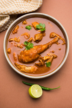Indian red chicken curry