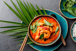 Thai Shrimps Red Curry