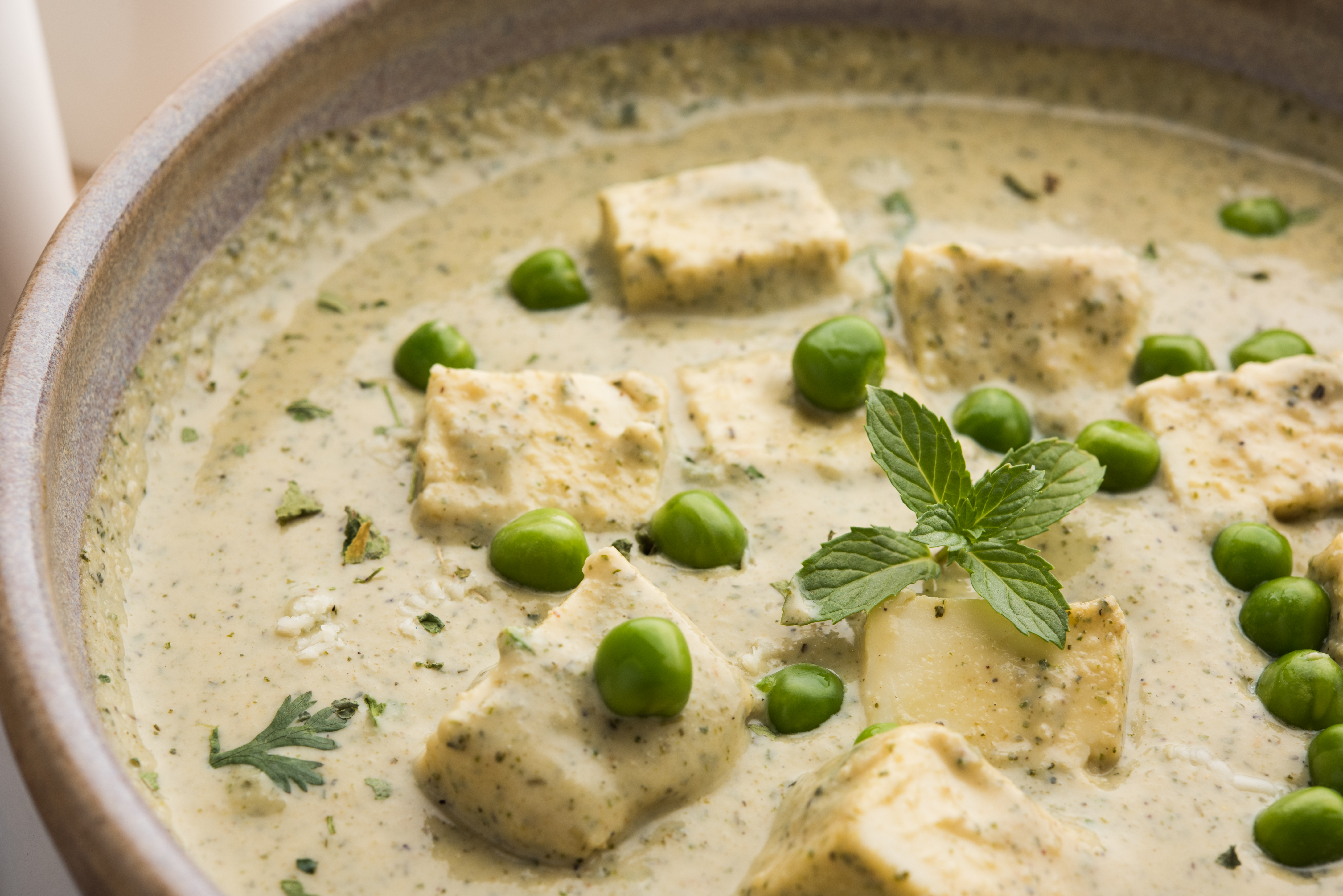Methi matar malai paneer curry