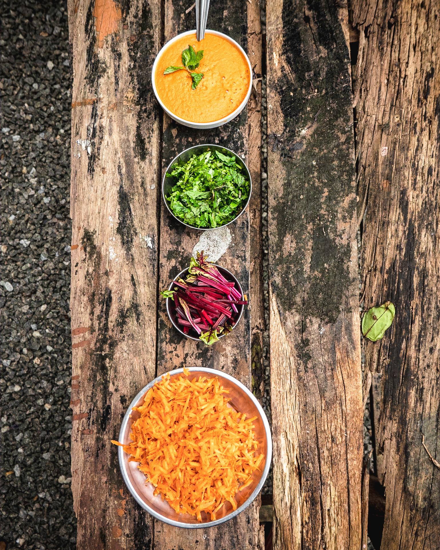 Shakti Ashram Vegan Meal