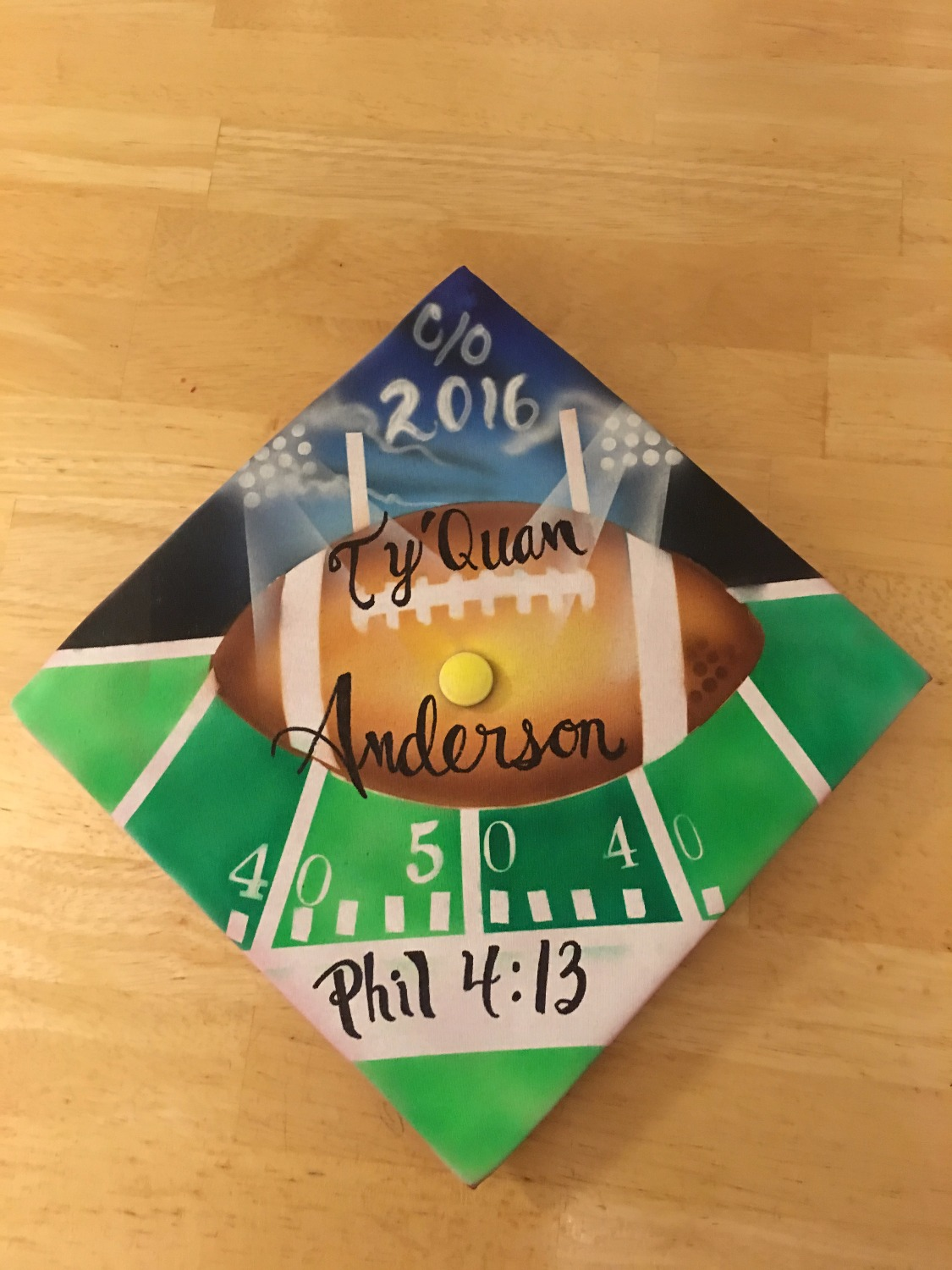 Chapel Hill and airbrush artist and Rock Hill Graduation Cap_edited.jpg