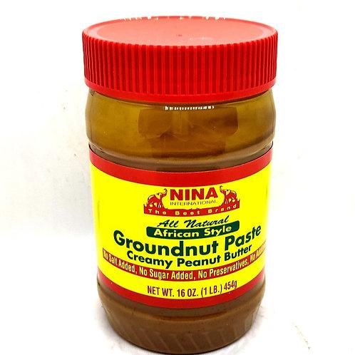 Groundnut Paste Nina (Creamy Peanut Butter)