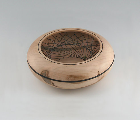 Ambrosia Maple Vessel, Waxed Linen Weave