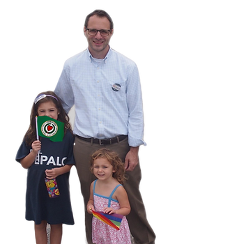 Governor's Councilor Paul DePalo with daughters, 2018