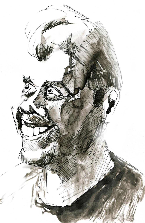 portrett tegning av Robin