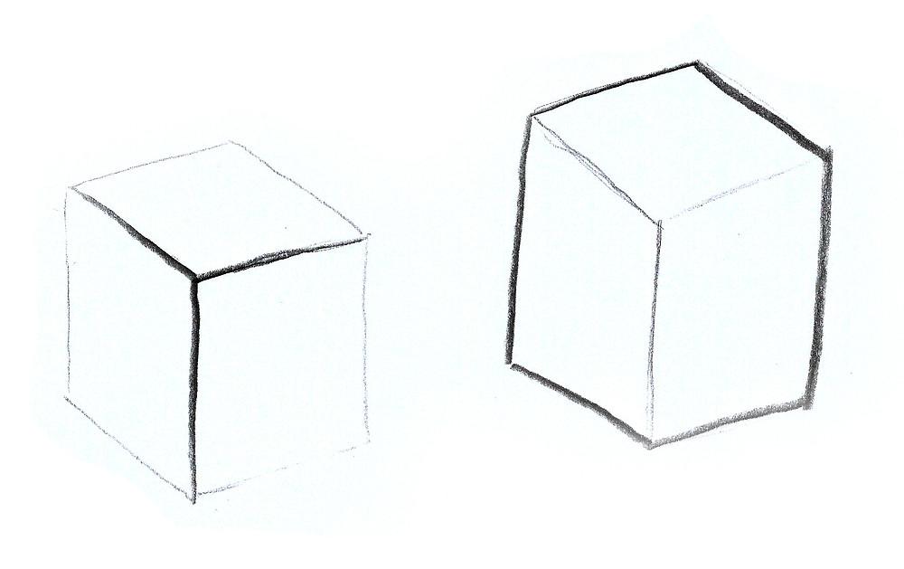 eksempler på bruk av kontur for å flate ut eller fremheve romlighet
