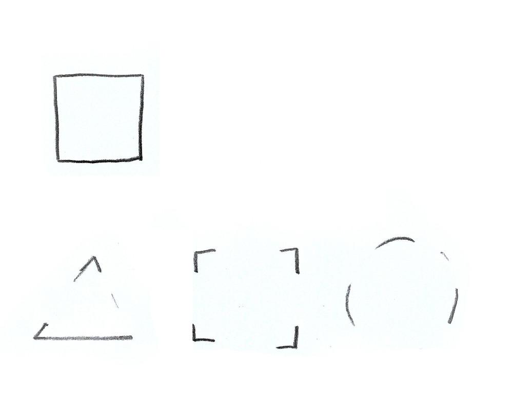 tegning, eksempel på bruk av kontur