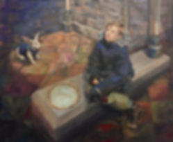 oil painting, portrait by Silje Høidal