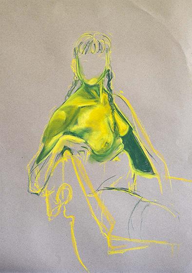 Gelbgrüner Akt