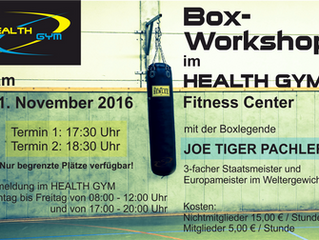 Box Workout mit JOE TIGER Pachler