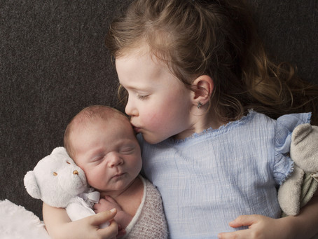 Options for older siblings at a Newborn Photography Session | Newmarket Newborn Photographer