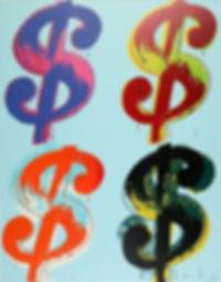 Andy Warhol Dollar Sign Quad