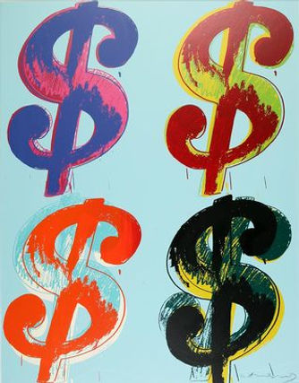 Andy Warhol Dollar Sign Quad